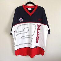VTG 90s RUSTY WALLACE #2 Men's Shirt Sz XL Chase Authentics NASCAR Miller Lite