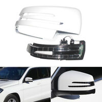Right Mirror Cover House Cap w/ Turn Light Fit For Mercedes W204 W212 W221