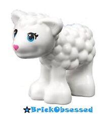 LEGO Friends Animal White Lamb / Baby Sheep Azure Eyes Pink Nose Eyelashes 41029