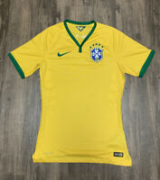Nike Brazil Mens Small 2014 Dri Fit Soccer Jersey EUC World Cup Neymar