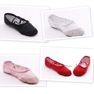 Ballet Canvas Dance Gymnastic Shoes Split Sole Children's & Adults Sizes NEW!