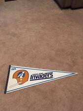 Vintage 1982 Oakland Invaders USFL Full Size Pennant Football