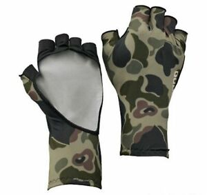 Shimano GL-048Q Gloves UPF 50 5 Fingerless Green Camou Size L 669865