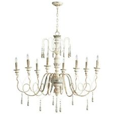 Cyan Design Chantal Eight Light Chandelier, Parisian Blue - 05714