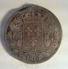 FRANCE - LOUIS XVIII - 5 FRANCS 1816 i - F. n°309 (6)