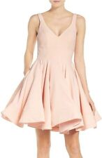 IEENA for MAC DUGGAL DOUBLE V-NECK FIT & FLARE  COCKTAIL DRESS, Sz.6, New$238