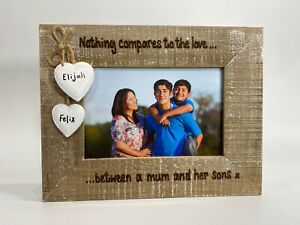 Love Between Mum & Son / Daughter Personalised Photo Frame Mother's Day New Baby