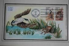 North American Wildlife Canada Goose & Raccoon Stamps FDC HAM Cachet Sc#2331,34