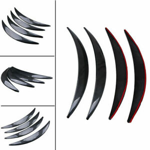 Universal 4X Car Wheel Arches Eyebrows ABS Plastic Carbon Fiber Look Protected