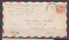 UNITED STATES, APO 305, Great Britain, 1944 6c. Airmail Envelope to DC.
