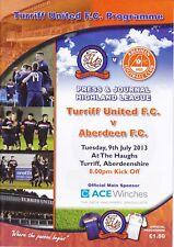 Turriff United v Aberdeen 9 Jul 2013