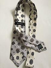 Paul Smith 6cm Blade = Crème à motif étroit Cravate = 100% Soie = Made in Italy