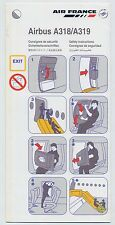 AIR FRANCE airlines Airbus A318/A319 Safety Card Ref. 005466 12/2004 - sc603