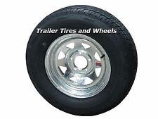 "*2* 175/80R13 LRC 6 PR RN Radial Trailer Tires on 13"" 5 Lug Galvanized Wheels"