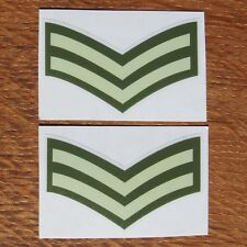 Two British Army Rank Lance Sergeant Corporal LSgt Cpl L/Sgt Vinyl Sticker 5cm