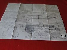 Vintage Balsa Wood Scale Model Plane Plans Flying Scale Inc. Art Chester's Jeep