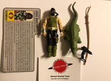 1987 Croc Master + File Card Complete GI Joe Figure