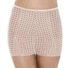 Nude & Black polka dot slimming boyshorts shorts shorty briefs beige sheer sexy