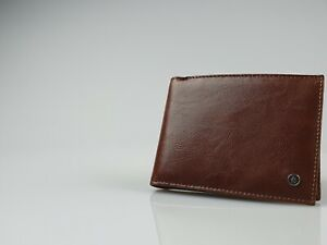 Zippo Brown Leather Trifold Wallet (130mm x 95mm) New in Box - L51094