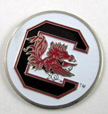 5 NCAA Collegiate Golf Ballmark Ballmarker South Carolina Gamecocks White