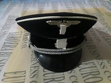 Replica ss officer cap, ww2 wwll German Officer Visor Cap in all sizes