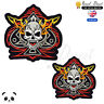 Ace of Skull Bikers Embroidered Iron On /Sew On Patch Badge For Clothes Bags etc