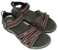 TEVA TIRRA Women's Size 9 Burgundy Ankle Strap Water Sports Sandals 4266