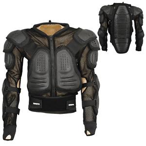 Motocross Motorbike Body Armour Jacket Motorcycle Protection Guard Black, M-1