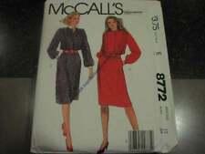 Uncut Vintage McCalls Pattern Dress 12 B34 1983