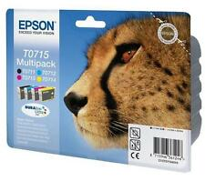 Epson T0715 Black Cyan Magenta Yellow Ink Cartridge (c13t07154510)