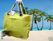 LACOSTE Womens Ladies Shoulder Vertical TOTE Bag Casual 19 Sunny Lime AUTHENTIC