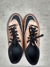 Nike Hypervenom Cleats Outdoor Soccer Shoes Brown Metallic size 3
