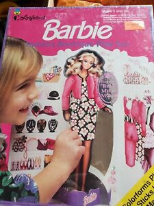 NIB Barbie Fashion Boutique Playset Colorforms Vintage