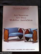 """CATALOGUE DE VENTES """" ART NOUVEAU & ART DÉCO """" TAJAN PARIS 9 Novembre 1999"""