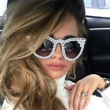 Sunglasses With Pearl Luxury Women Rhinestone Cat Eye
