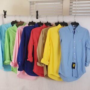 Neuf Homme Ralph Lauren Vêtement -dyed Chemise Oxford Tout Taille Et Couleurs