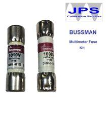 Fluke 187 Digital Multimeter Replacement fuse set Bussmann DMM-B-44/100 JPSF428