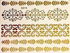 Flash Einmal Temporary Klebe Tattoo Gold 5teile Armband Fuß Hals Kette Body G13