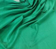 1 m verde, velluto a coste di cotone tessuto 112 cm - 10 COSTE