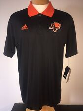 Adidas BC LIONS AUTHENTIC SIDELINE CFL Official Licensed Mens Sport Polo Shirt L