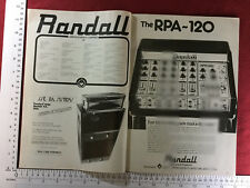 Randall RPA-120 12 channel mixer vintage advert 1979
