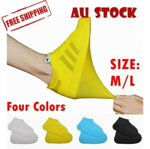 SHOE COVER WATERPROOF Silicone Non Slip Rain Water RUBBER Foot Boot Overshoe
