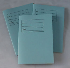 A5 Tinted Paper Lined Exercise Books x3 Ideal For Visual Stress - Pale Blue P601
