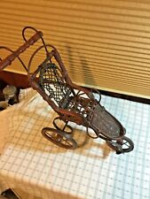 Antique German Wicker Doll Carriage Tricycle Baby Doll