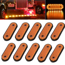 10PCS 20LED Amber Trailer Side Marker Lights Lamp For Trucks RV Caravan DC 24V