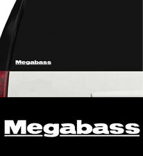 Megabass Fishing Lures Outdoors Sports Vinyl Decal Boat Window Cooler White