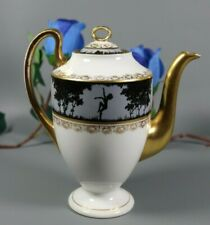 Antique Limoges Paris Porcelain Silhouette Empire Style Hand Painted Tea Pot