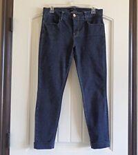 J BRAND ANJA SKINNY CUFFED CROP in Night Shadow Blue Jeans SZ 29 Style #80201558