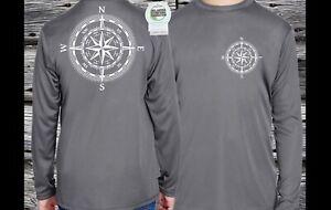 Boys  Rash Guard Swim Shirt Long sleeve Performance Compass  sun shirt
