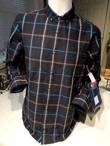 VANS BRAND NEW w/TAGS black Plaid Mens M Long Sleeve button down Collared shirt